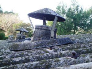 Cheminée toiture Amiante